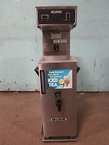 bunn Tu3 H d Commercial nsf 120v Automatic Ice Tea Brewer W dispenser Tank