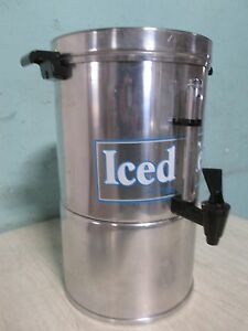 lancaster Colony Commercial Aluminum 3gal Iced Tea Dispenser container urn