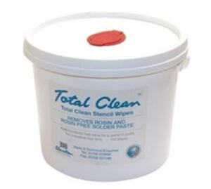 Pcb Solder Paste Stencil Cleaning Wipes 3 Litre Bucket 150 Wipes Total Clean