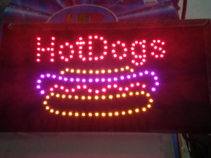 Hot Dogs Neon Led Sign store Sign business Sign window Sign 20 X 10