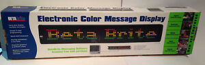Beta Brite Electronic Led Color Message Display With Remote New In Box