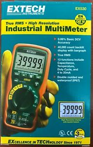 Brand New Extech Ex530 True Rms Industrial Multimeter