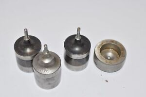 Punch Die Set Roper Whitney Press Diacro 116 Circle Set Of 3 Punches