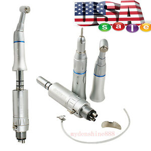 Dentist Dental Lab Low Speed Handpiece E type Contra Angle Straight air Motor