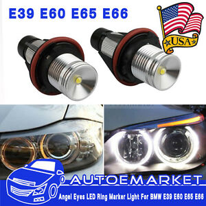 2 Angel Eyes Parking Car Led Light Bulb Lamp For Bmw E39 E53 E60 E61 E63 E64 Usa