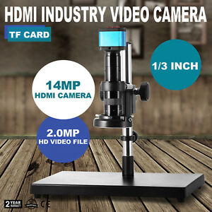 180x C mount Video Microscope Camera Hdmi Usb Led Magnifier 14mp New