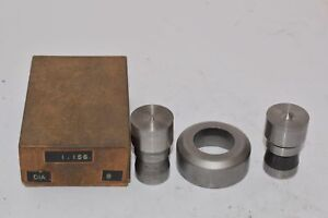 Punch Die Set Roper Whitney Press Diacro 1 156 Circle Set Of 2 Punches 1