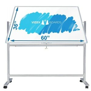 Double Sided Magnetic Dry Erase Board W Stand 60 x36