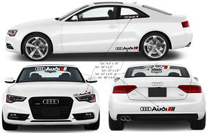 Audi Sport Racing Vinyl Decals Stickers Many Sizes Free Shipping