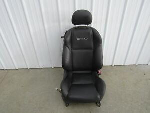 2004 2006 Pontiac Gto Ls1 Ls2 Leather Power Seat Rh Passenger Oem Black U67