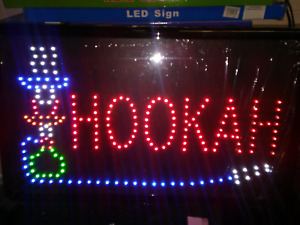 Hookah Led Neon Sign store Sign business Sign window Sign smoke Shop 23 X 14