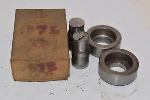 Punch Die Set Roper Whitney Press Diacro 875 Circle Set Of 2 Punches 2 D