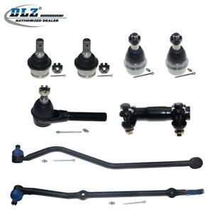 8 New Front Upper Lower Ball Joint Tie Rods Suspension For 84 89 Jeep Cherokee