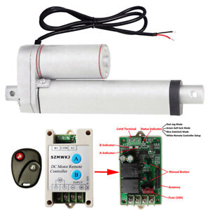 1500n 6 Inch Linear Actuator 12v Heavy Duty Electric Motor wireless Control Kit
