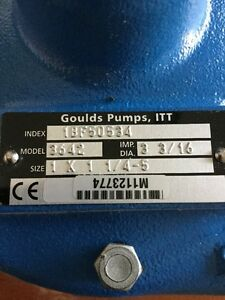 Goulds 1bf50534 Centrifugal Pump 1 2 Hp Motor 3642