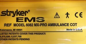 Stryker 6082 Mx pro Ambulance Cot Stretcher Ems Emt Rugged