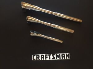 Brand New Craftsman 3pc Quick Release Ratchet Set 1 4 3 8 1 2 Drive Teardrop