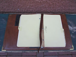 Vintage Brown Weekly Planner Organizer Binder Aico Usa Alphabetical Dividers
