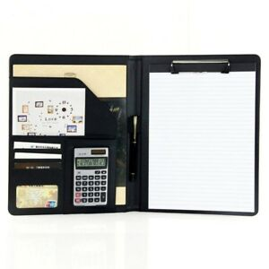 Pu Leather Business File Folder Office Files Organizer 5 Color Memo Pad Holder