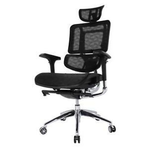 Ergonomic Mesh High Back Office Swivel Chair With Armrest And Adjustable Brce