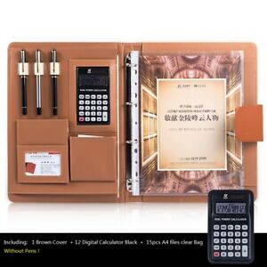 A4 Office Desk Organizer Business Notebook With Calculator And Spiral File Bags