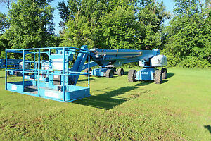 2007 Genie S 125 Boom Lift Cummins Diesel Manlift 4x4 Drive Only 1 950 Hours
