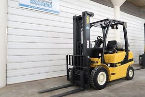 2006 Yale Glp050 5 000 Pneumatic Tire Forklift 3 Stage Sideshif