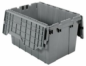 Akro mils 39120 Plastic Storage And Distribution Container Tote With Hinged Lid