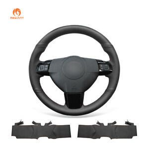 Black Artifical Leather Car Steering Wheel Cover For Opel Astra Vauxhall Astra