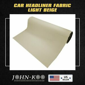 Auto Headliner Fabric Upholstery Interior Roof Replacement W Foam Backed 48 X60