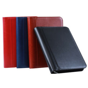 Zipper Folder Document Organizer Business A4 Folders Black Brown Red Blue Colors