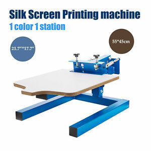 1 Color 1 Station Silk Screen Printing Machine Press Diy T shirt Printing