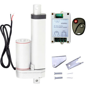 Linear Actuator 4 Stroke 12v Dc Motor W Remote Control For Auto Lifting System