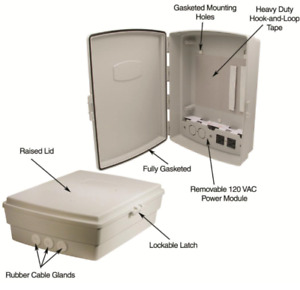 4 Pack 14x10x4 Outdoor Weatherproof Enclosure W Outlets Enclosure Box