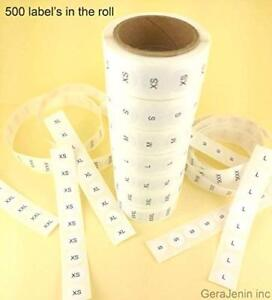 Set Of 7 White Round Retail Size Stickers Adhesive 3500 Labels Clothing