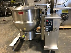 2010 Groen Dht 1 40 Natural Gas 40 Gallon Steam Jacketed Tilt Kettle Works Great