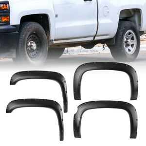 Fender Flares Pocket Style For 07 13 Chevy Silverado 1500 69 Short Bed Ct002