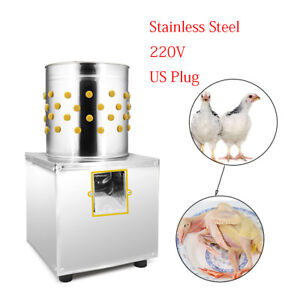 New 1kg Chicken Plucker Plucking Machine Poultry De feather 30 Stainless