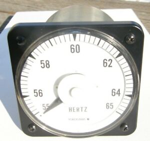 Yokogawa Panel Mount Frequency Meter 120v 55 65 Hz 103372anan7