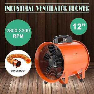 12 Extractor Fan Blower Ventilator 5m Duct Hose High Rotation
