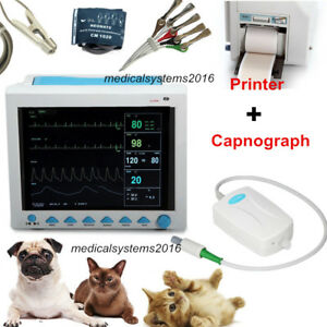 Contec Vet Veterinary Patient Monitor Capnograph Co2 printer Cms8000 Parameters