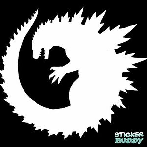 5 5 Godzilla Vinyl Decal Window Sticker Horror Sci Fi Monster