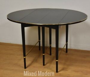 Paul Mccobb Calvin Black Lacquer And Brass Dining Table Mid Century Modern