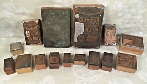 Wood And Copper Plate Print Blocks Primarily Advertising Pieces Larger Ones For