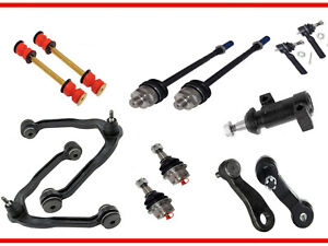 13pc Front Upper Control Arm Lower Ball Joint Tie Rod Pitman Idler Arm 6 Lug