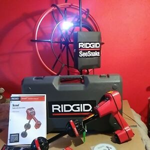 Ridgid Scout Sewer Pipe Locator Drain Cleaner Video Endoscope Camera Cable