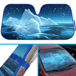 Blue Iceberg Ocean Auto Sun Shade For Car Truck Suv Windshield Uv Protection