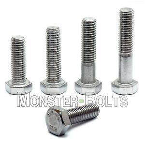 M8 Hex Cap Bolts Screws A2 Stainless Steel 1 25 Coarse Din 933 931 Tap 18 8