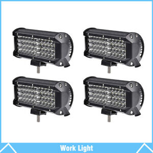 4 7 inch 6000k Led Work Light Bar Flood Combo Pods Driving Off road Tractor 4wd