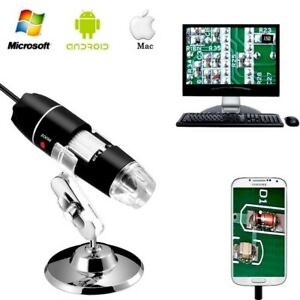 40 1000x Mag 2mp 8led Usb Digital Scope Camera Otg Adapter Stand Mac win lin and